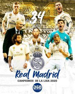 Real Madrid logra su trigésimo cuarto título liguero