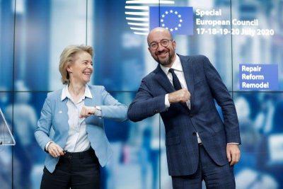 La UE alcanza un acuerdo «histórico» para la recuperación tras una cumbre maratoniana