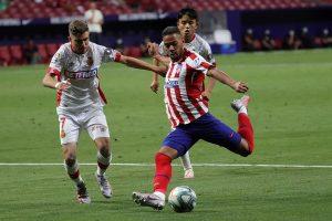 El Atlético afianza el tercer puesto con una goleada al Mallorca