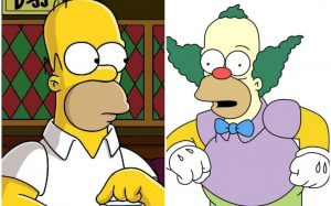 El secreto que esconden Homero Simpson y Krusty el payaso
