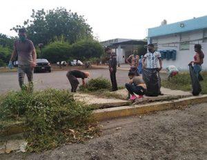 Unas 50 personas realizaron servicio comunitario por salir sin tapabocas en Lagunillas