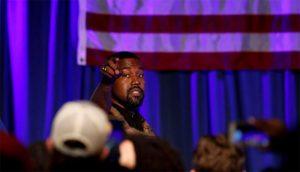 Entre lágrimas, Kanye West realizó su mitin en la campaña presidencial
