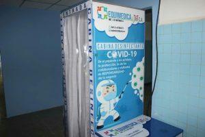 Instalaron cabina de desinfección en el hospital Pedro García Clara