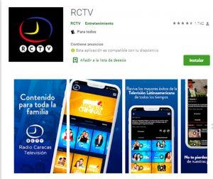 RCTV volvió con gran contenido a través de su aplicación