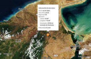 Sismo de magnitud 4,8 se registró en Sinamaica