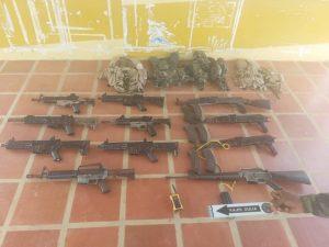 Incautaron arsenal de guerra a tres funcionarios del CICPC