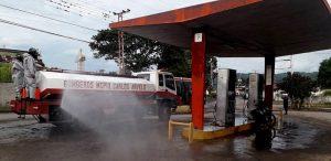 Estaciones de servicio en Central Tacarigua fueron desinfectadas