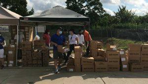 Venezolanos en Houston recibieron asistencia alimentaria por parte de la embajada