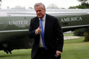 El jefe del gabinete de la Casa Blanca dice que EEUU celebrará elecciones el 3 de noviembre