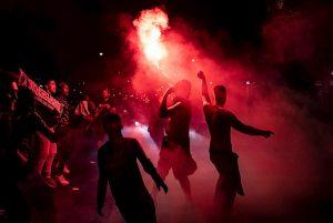 Explosión de alegría en París tras la primera final del PSG