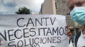 Protestaron en sede de Cantv  Caracas para exigir mejoras del servicio