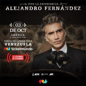 Alejandro Fernández presentará su concierto «América a una sola voz» a Venezuela