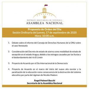 Asamblea Nacional sesionará este jueves para debatir el informe de la ONU