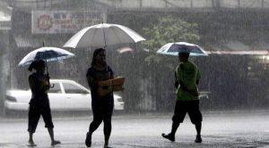 Continuarán las lluvias en gran parte del país este martes