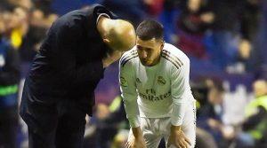 Zidane comunicó que Hazard no jugara hasta que este recuperado al 100%