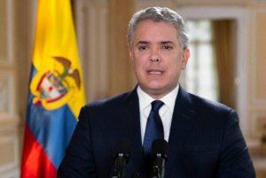 Presidente colombiano Iván Duque hace un llamado ante movilizaciones de este miércoles