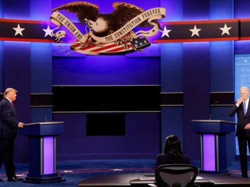 Menos caos pero muchos enfrentamientos en el debate final de Trump y Biden