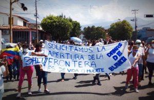 Mujeres tachirenses exigieron apertura de la frontera entre Venezuela y Colombia