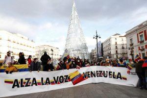 Venezolanos protestan en Madrid contra las elecciones en su país
