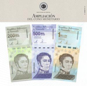 Banco Central de Venezuela amplía el cono monetario