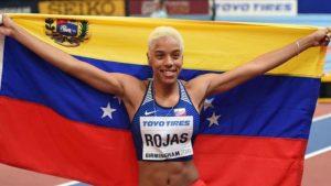 La venezolana Yulimar Rojas recibió reconocimiento que la acredita con el record Guinness mundial por su salto triple