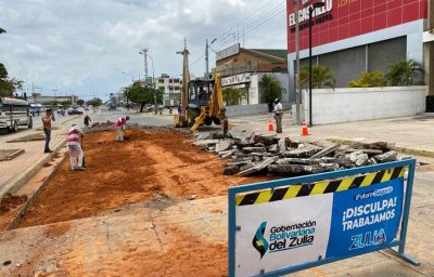 #Maracaibo | Avanzan trabajos de rehabilitación de la Avenida La Limpia