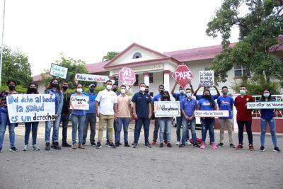 Jóvenes en el Zulia protestaron para exigir vacunación igualitaria contra la COVID-19