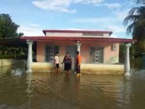 Desbordamiento del Rio Guanare en Portuguesa inunda viviendas de al menos 14 familias