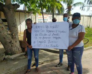 Inmediaciones del hospital Dr. Lino Arévalo en Tucacas fue tomado por la GNB ante protestas del personal sanitario
