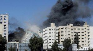 Edificio que alojaba agencias de noticias en Gaza fue bombardeado por Israel