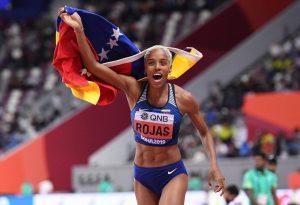 Yulimar Rojas logra salto 15,43 metros y quedó a siete centímetros de tumbar la marca mundial de 15,50