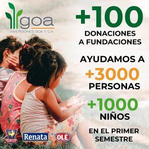 Inversiones GOA continúa llevando sonrisas a los niños con su labor social
