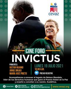 CEVAZ invita a conocer el legado de Nelson Mandela, con el Cine Foro: Invictus