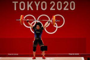 #JJOOTokio2020   Naryury Pérez logra diploma olímpico en Halterofilia