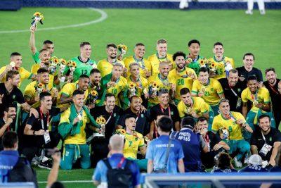 #JJOOTokio2020   Brasil retiene medalla de oro olímpica de fútbol masculino con gol en tiempo extra