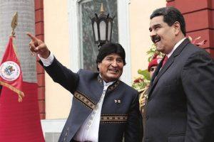 Evo Morales se reúne con Maduro en Caracas tras visitar a Díaz-Canel en Cuba