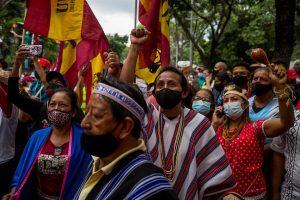 ¿Conmemoración de la resistencia indígena o campaña chavista?